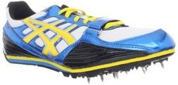 ASICS Turbo Jump Running Shoe,Jet Blue/Yellow/Black,8 M US