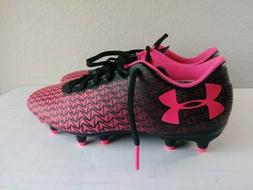 Under Armour UA CF FORCE 3.0 FG-R JR Pink Black Soccer Cleat