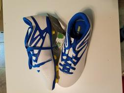 Adidas Unisex Youth Messi White/Blue Soccer Cleats Size 1.5