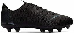Nike Vapor 12 Academy Kid's Firm Ground Soccer Cleats  Black