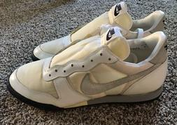 Vintage 80s DEADSTOCK NIKE Soccer Cleats turf Shoes White Me