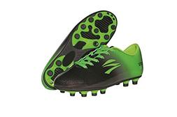 zephz Wide Traxx Black/Lime Green Soccer Cleat Youth 5