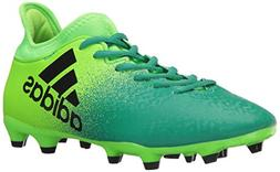 adidas Men's X 16.2 FG Soccer Shoe, Solar Black/Core Green,