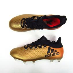 Adidas X 17.2 FG Soccer Cleats Techfit NSG Metallic Gold Bla