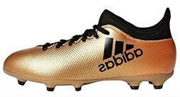 adidas Performance Boys' X 17.3 FG J, Tactile Gold/Core Blac