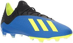 adidas Men's X 18.2 Firm Ground Soccer Shoe, Football Blue/S
