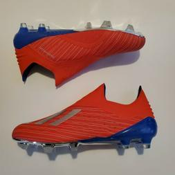 adidas X 18+ FG Pure Speed Soccer Cleats Red/Blue/Silver siz
