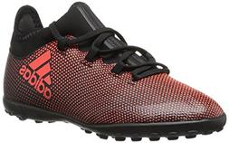 adidas Boys' X Tango 17.3 TF J Soccer-Shoes, Black/Solar Red