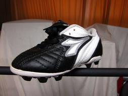 Youth Soccer Cleats Diadora Calcio MD Black/White & Pink/Gre
