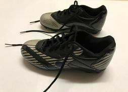 Champion Youth Soccer Cleats Size 1 Black Silver Some Blue P