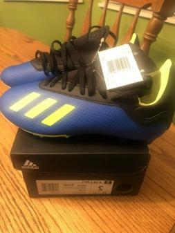 Adidas,Youth Soccer Cleats,X 18.3 FG J,DB2416,size 2,New wit