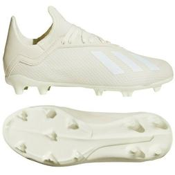 Youth Adidas X 18.3 Firm Ground Soccer Boots White Junior Cl